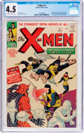 Silver Age (1956-1969):Superhero, X-Men #1 (Marvel, 1963) CGC VG+ 4.5 Off-white to white pages....