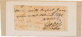 Autographs:Statesmen, Declaration Signer George Ross Signature and Letter Closing....