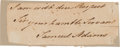 Autographs:Statesmen, Declaration Signer Samuel Adams Letter Closing and Signature....