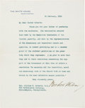 Autographs:U.S. Presidents, Woodrow Wilson Typed Letter Signed. ...