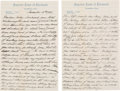 Autographs:U.S. Presidents, William Taft Autograph Letter Signed with Initials ...