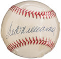 Autographs:Baseballs, Ted Williams Single Signed Baseball.. ...