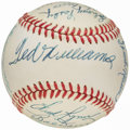Autographs:Baseballs, Baseball Greats Multi-Signed Baseball with Williams, Robinson, Berra, Killebrew, and others. . ...