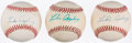Autographs:Baseballs, Luke Appling Single Signed Baseball Lot of 3.. ...
