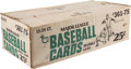 Baseball Cards:Unopened Packs/Display Boxes, 1975 Topps Baseball Unopened Cello Case - Factory Sealed. ...