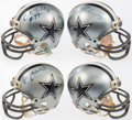 Autographs:Others, Dallas Cowboys Signed Mini Helmet Lot of 4: Staubach, Dorsett,Lilly, White, Pearson, & Harris.. ...