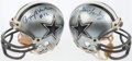 Autographs:Others, Dallas Cowboys Signed Mini Helmet Lot of 2 with Landry, Aikman, andStaubach. . ...