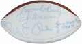 Autographs:Footballs, 1958 Baltimore Colts Signed Football, NFL Champions.. ...