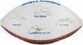 Autographs:Footballs, New York Giants Legends Multi-Signed Football. . ...