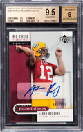 Football Cards:Singles (1970-Now), 2005 Upper Deck Foundations Aaron Rodgers #260 Rookie AutographNumbered 85/175 BGS Gem Mint 9.5 - 9 Autograph. ...