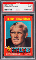 Football Cards:Singles (1970-Now), 1971 Topps Terry Bradshaw #156 PSA Mint 9....