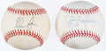 Autographs:Baseballs, Nolan Ryan and Jerry Koosman Single Signed Baseball Lot of 2.. ...