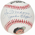 "Autographs:Baseballs, Joe DiMaggio ""Yankee Clipper"" Single Signed Portrait Baseball. ...."