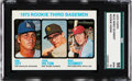 Baseball Cards:Singles (1970-Now), 1973 Topps Mike Schmidt - Rookie 3rd Basemen #615 SGC 98 Gem 10 -The Ultimate SGC Example! ...