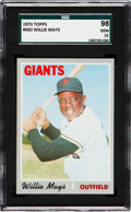 Baseball Cards:Singles (1970-Now), 1970 Topps Willie Mays #600 SGC 98 Gem 10 - Pop One, None Higher!...