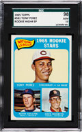 Baseball Cards:Singles (1960-1969), 1965 Topps Tony Perez - N.L. Rookie Stars #581 SGC 98 Gem 10 - Pop One, None Higher! ...