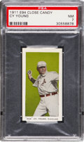 """Baseball Cards:Singles (Pre-1930), 1911 E94 Close Candy """"Old"""" Cy Young (Olive) PSA NM 7 - Pop Two, None Higher. ..."""
