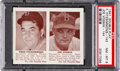 Baseball Cards:Singles (1940-1949), 1941 Double Play Fitzsimmons/Vosmik #143/144 PSA NM-MT 8 - None Higher. ...