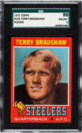 Football Cards:Singles (1970-Now), 1971 Topps Terry Bradshaw #156 SGC 88 NM/MT 8. ...