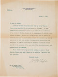 Autographs:U.S. Presidents, William Taft Typed Letter Signed Disputing an Article aboutMismanagement in Panama....