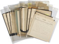 Autographs:Non-American, Edward VII Archive of Handwritten and Signed Telegrams to Queen Victoria....