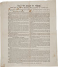 "Miscellaneous:Broadside, Pro-Lincoln Election Broadside: ""The Two Roads to Peace!"" ..."