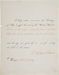 Autographs:U.S. Presidents, Martin Van Buren Order to Affix-the-Seal Document Signed ...