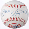 "Autographs:Baseballs, Mickey Mantle ""No. 7"" Single Signed Baseball.. ..."