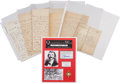 Autographs, Group of Letters regarding William Quantrill, with a Strand of HisHair. ...