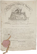 Autographs:U.S. Presidents, James Buchanan Signed Patent with Two Related Patents. ...