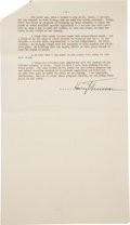 Autographs:U.S. Presidents, Harry S. Truman Signed Presidential Address Delivered at theReunion of the 35th Division in Springfield, Missouri....