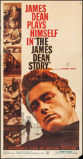 "Movie Posters:Documentary, The James Dean Story (Warner Brothers, 1957). Three Sheet (41"" X 79""). Documentary.. ..."