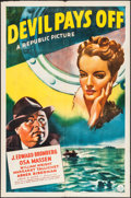 "Movie Posters:Crime, Devil Pays Off (Republic, 1941). One Sheet (27"" X 41""). Crime.. ..."