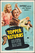 "Movie Posters:Comedy, Topper Returns (United Artists, 1941). One Sheet (27"" X 41""). Comedy.. ..."