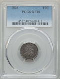 Bust Dimes: , 1835 10C XF40 PCGS. PCGS Population: (77/543). NGC Census: (19/415). XF40. Mintage 1,410,000. ...
