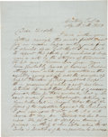 Autographs:Military Figures, Nathaniel Lyon Autograph Letter Signed with Indian Content. ...