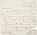 Autographs:Military Figures, Nathaniel Lyon War-Dated Autograph Letter Signed with Rank. ...