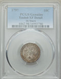 Early Dimes, 1797 10C 16 Stars, JR-1, R.4 -- Tooled -- PCGS Genuine. XFDetails....