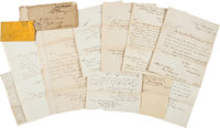 George Thurston Civil War Naval Archive with Gideon Welles Documents (4) Signed