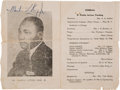 Autographs, Martin Luther King, Jr. Signed Freedom Rally Program. ...
