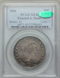 Early Half Dollars, 1806 50C Pointed 6, Stem, O-116, T-20, R.3, XF40 PCGS. CAC....