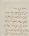Autographs:U.S. Presidents, Franklin Pierce Autograph Letter Signed with a Second Franking Signature....