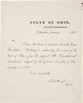 Autographs:U.S. Presidents, Rutherford B. Hayes Document Signed ...