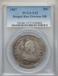 Early Half Dollars, 1807 50C Draped Bust, O-108, T-1, R.3, Fine 15 PCGS. PCGSPopulation: (2/6). NGC Census: (3/10). ...