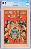 Golden Age (1938-1955):Miscellaneous, Home Cleaning Made Easy #nn (No Publisher, 1950) CGC VF 8.0 Off-white to white pages....