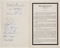Miscellaneous, Richard Nixon Signed Memorial Program for Martin Luther King,Jr.,...
