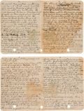 """Autographs:Authors, Jack London Autograph Draft of """"The Story of Lost Face"""" Signed..."""