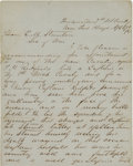 Autographs:Military Figures, George Armstrong Custer Autograph Letter Signed ...