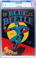 Golden Age (1938-1955):Superhero, Blue Beetle #6 (Fox Features Syndicate, 1941) CGC FN 6.0 Light tan to off-white pages....