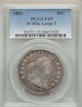 Early Half Dollars, 1803 50C Large 3, Small Reverse Stars, O-102a, T-2, High R.3, Fine15 PCGS. PCGS Population: (1/5). NGC Census: (1/8). ...